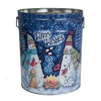 Whimsical Snowmen Tin - 6.5 Gallon